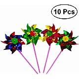 TOYMYTOY Party Windmills Pinwheel Garden Decoration Party Supplies - 10pcs