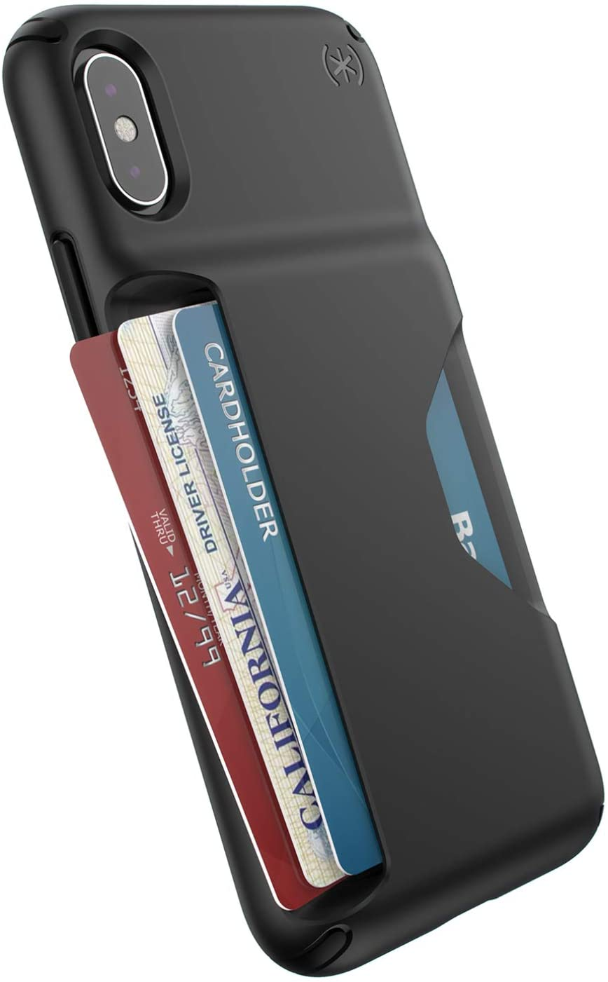 Speck Products Presidio Wallet iPhone Xs/iPhone X Case, Black/Black
