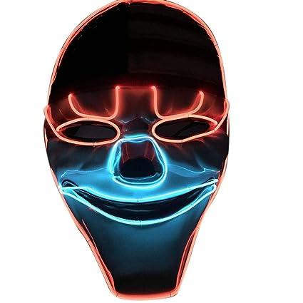 Biback Halloween LED Máscaras Adultos Horror Mask para la Fiesta de Disfraces, la Navidad,