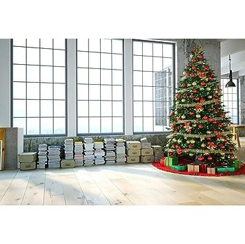 OERJU 2,7x1,8m Navidad Fondo Árbol de Navidad Decoración ...