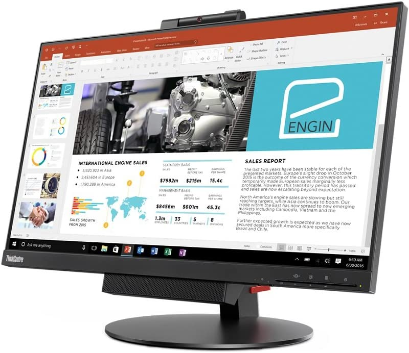 Lenovo ThinkCentre Tiny-In-One 24 Gen3 Monitor A17TIO24 (10QY-PAR1-US) 23.8-in IPS LED LCD (1920x1080)