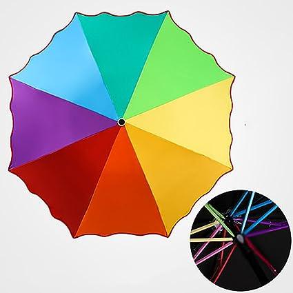 Paraguas Sombrilla Rainbow Vinyl Protección Solar Anti-UV Hombre Paraguas Femenino
