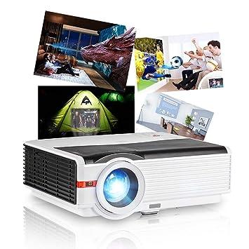 Proyector LED 5000 Lúmenes Proyector de videojuegos de cine en casa Soporte Full HD 1080P HDMI DVD Smartphone PC portátil Mac consola de juegos PS4 ...