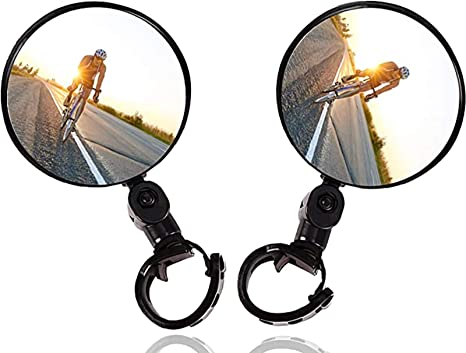 1x Rotatable Handlebar Rearview Mirror for Bike Bicycle Cycling Rear View Mirror