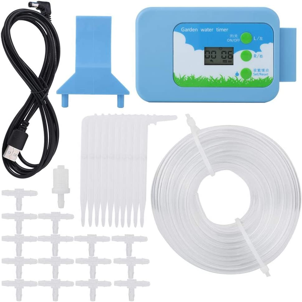 Jeffergarden Home Garden LCD Irrigation Controller Kit Water Timer Automatic Watering System
