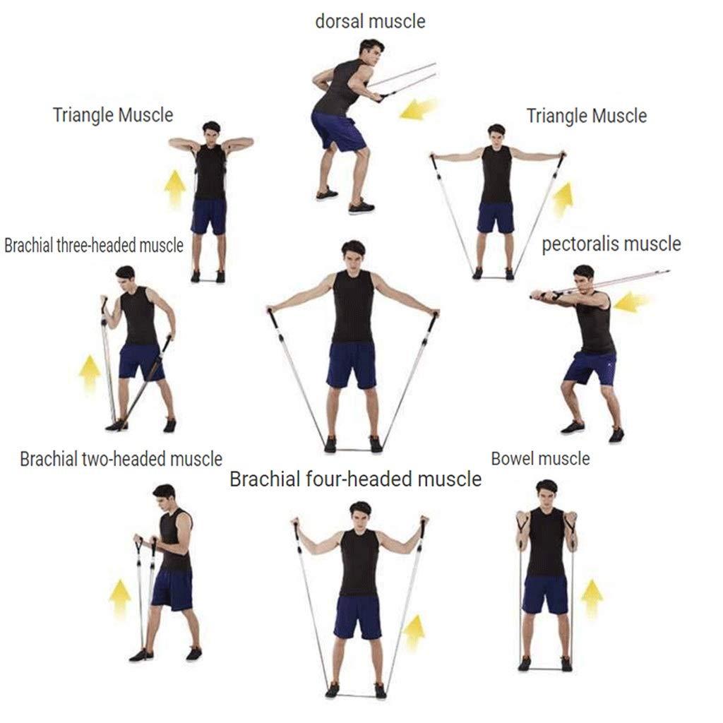 Conjuntos De Bandas De Resistencia Multifunción 11 En 1 Cuerda De Látex, Cuerda Elástica Adecuada para Fitness, Yoga, Abdominales, Pilates: Amazon.es: ...
