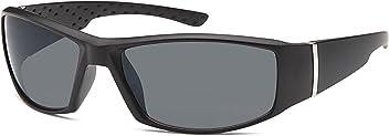 Sportliche Kunststoff-Sonnenbrille mit polarisierten Gläsern- Im Set mit Zubehör
