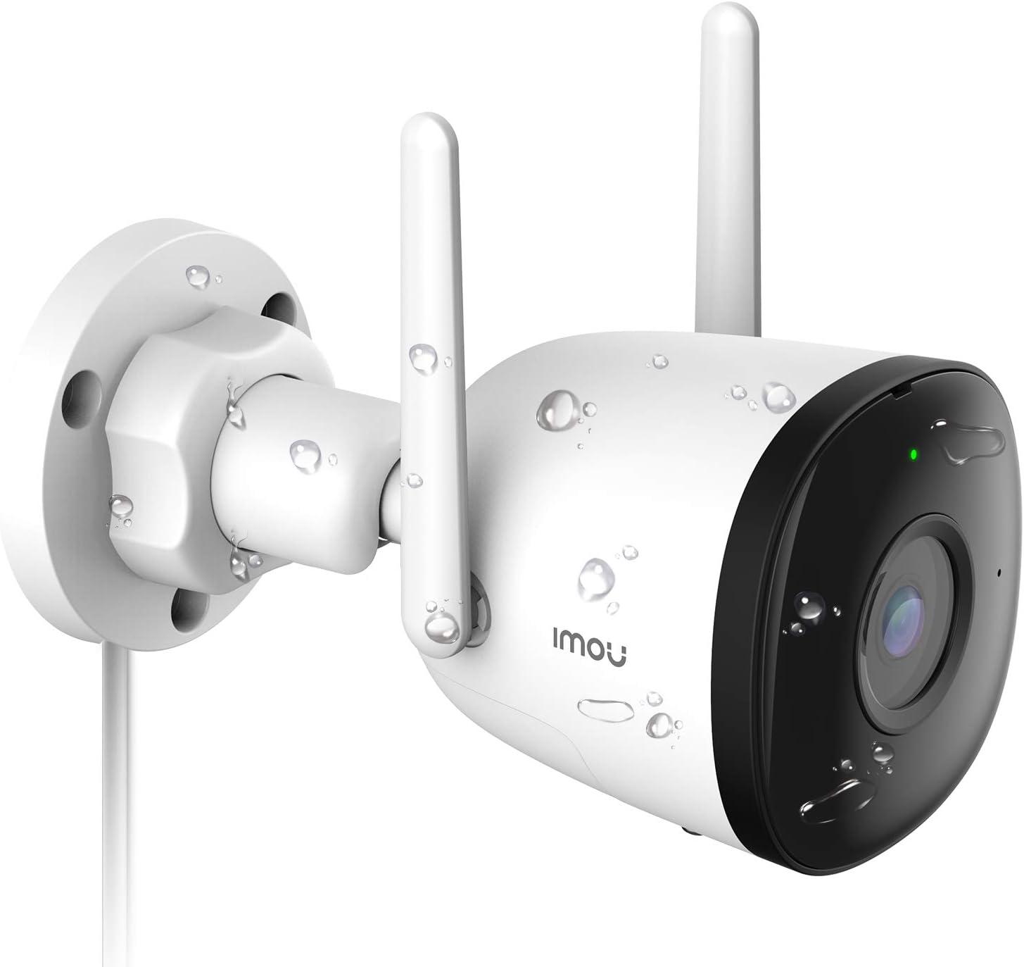 Cámara IP WiFi Exterior con Detección de Humano, Cámara de Vigilancia WiFi con Visión Nocturna de 30m, IP67 a Prueba de Agua y Polvo, Imou ...