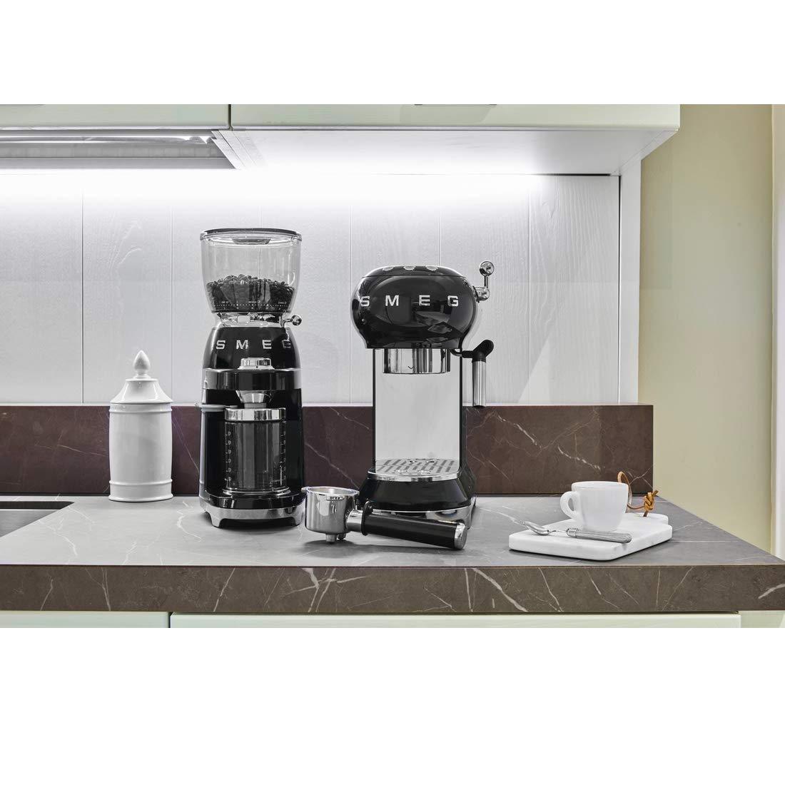 Smeg Premium Bundle - Máquina de café espresso con filtro y ...