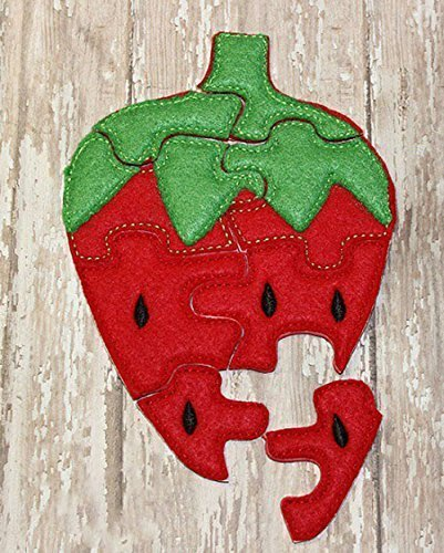 Strawberry Felt Jigsaw Puzzle For Toddlers, Educational Learning Activity Toys, Party Favors