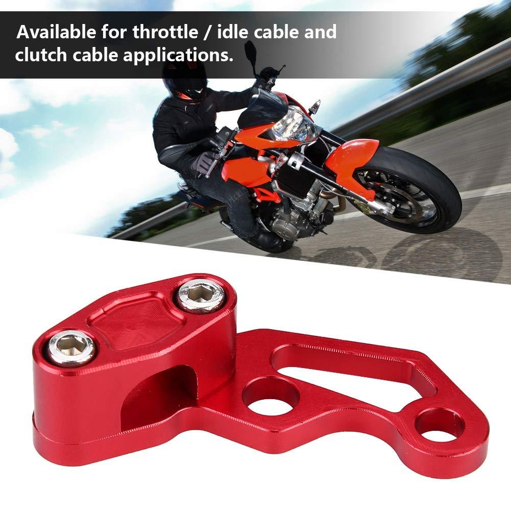Fydun Clip telaio manubrio clip morsetto cavo frizione freno moto moto in lega di alluminio rosso