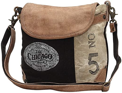 Amazon Com Myra Bag The Chicago Upcycled Canvas Leather Shoulder Bag S 0947 Shoes This resulted in the first professional. myra bag the chicago upcycled canvas leather shoulder bag s 0947