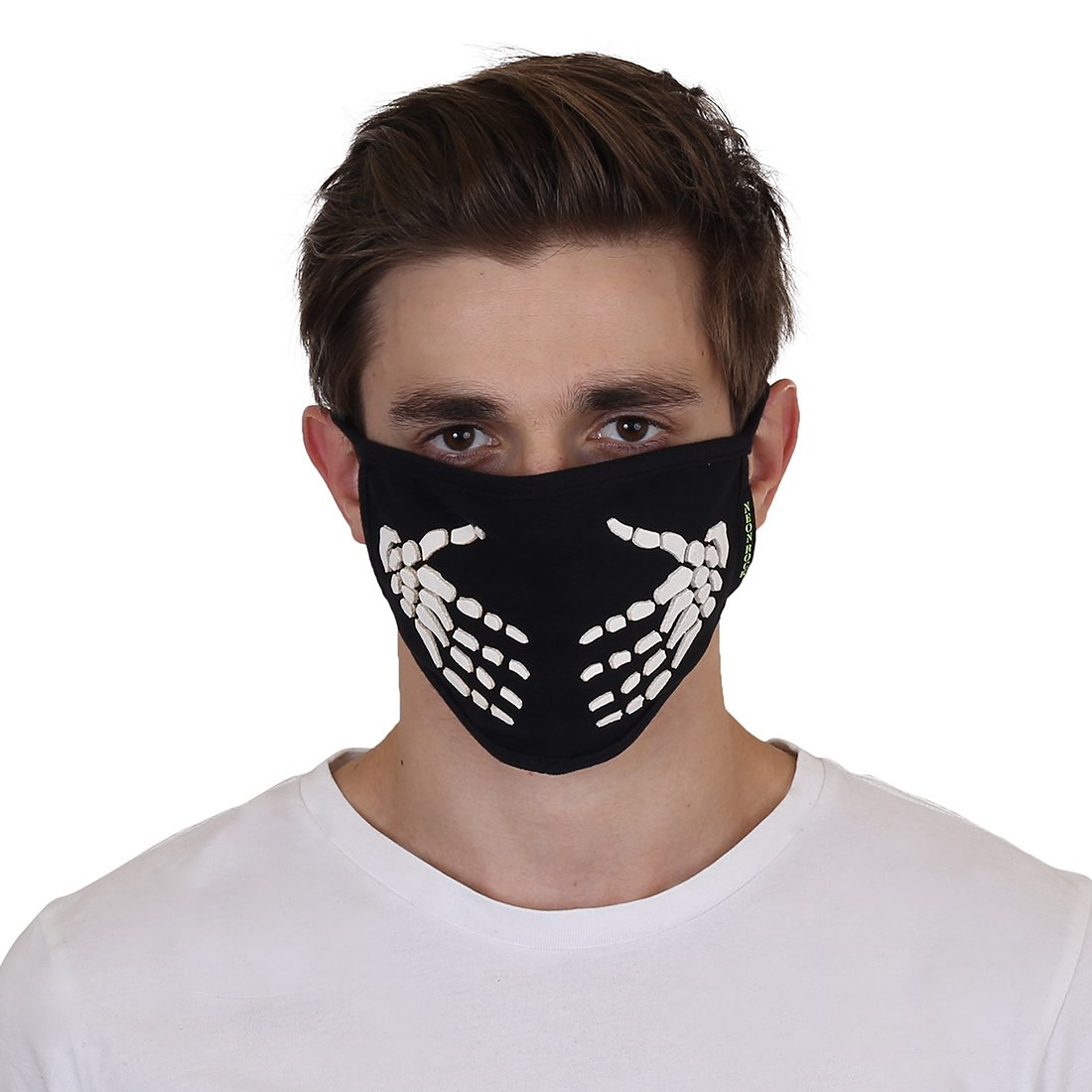 m0040 Mask Riding Nr Mask Neon Protection Bike Biker Black Mouth Safety Pollution skeleton Face Rock Mask Hand dust Half