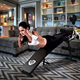 Apontus Adjustable Incline Curved Workout Fitness Sit Up Bench