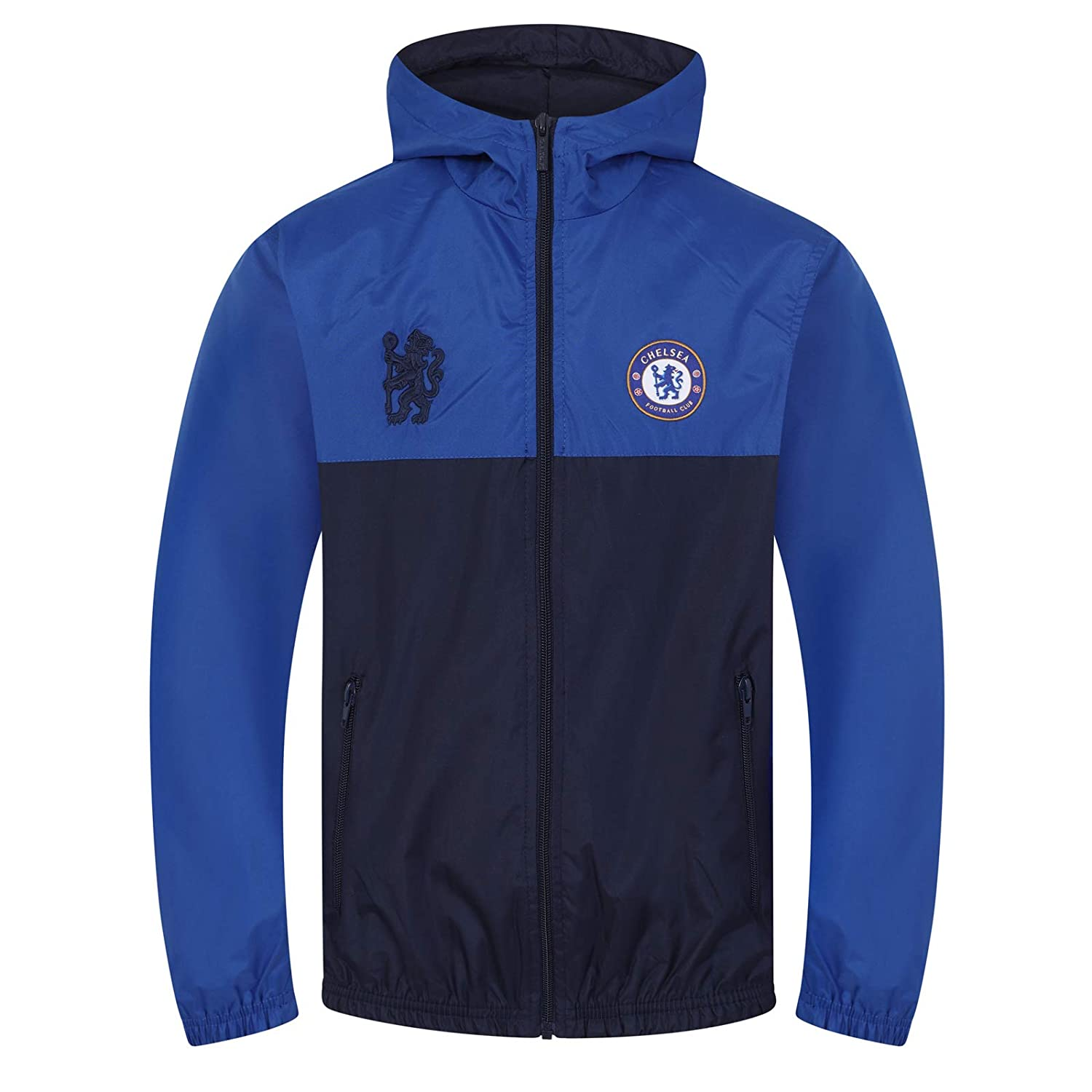 Chelsea FC Official Football Gift Boys Shower Jacket Windbreaker