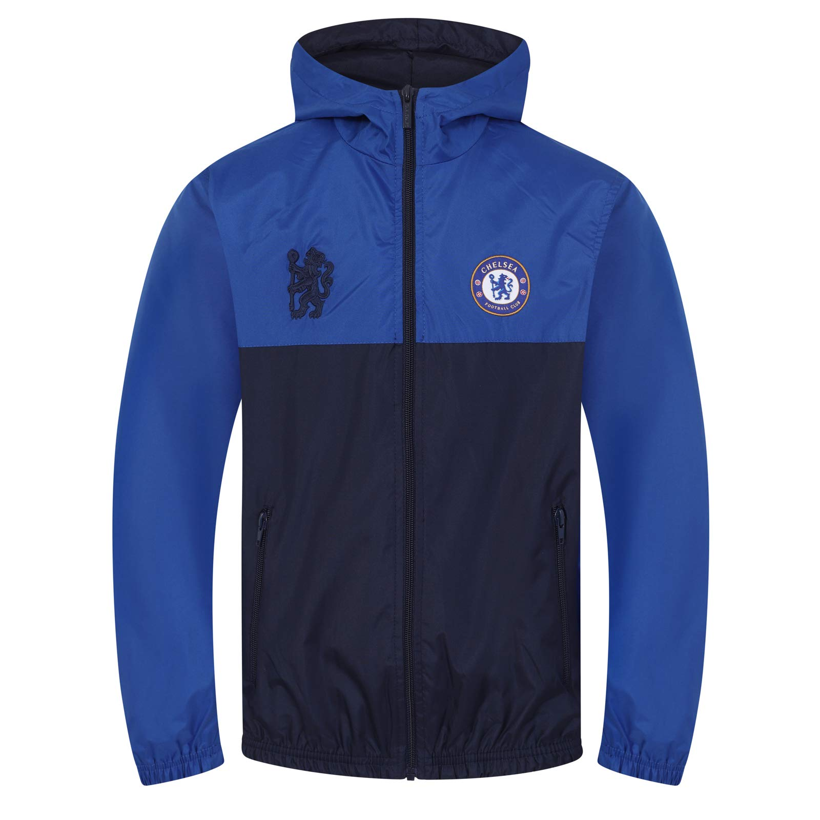 Chelsea FC Official Football Gift Boys Shower Jacket Windbreaker 2-3 Years Royal Blue by Chelsea F.C.