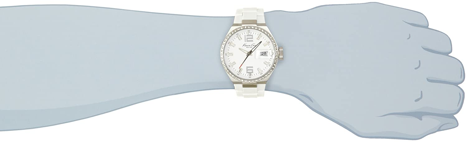 Amazon.com: Kenneth Cole New York Mens KC4811 Classic White Dial & Silicone Link Bracelet Watch: Kenneth Cole: Watches