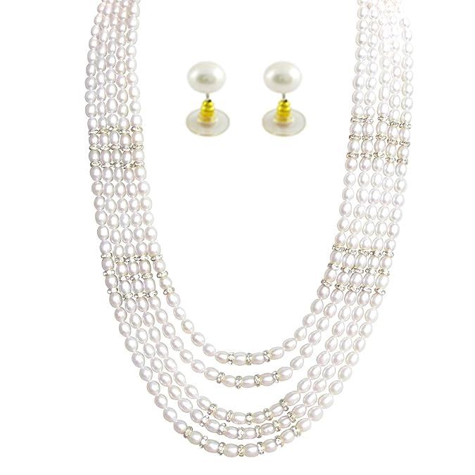 Jpearls Graceful Gigantic Pearl Set Jewellery Sets at amazon