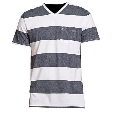 bc2f1b4ca45c Hollister Herren Stripe V Neck Striped Tee T-Shirt, Größe S, navy  microstripe