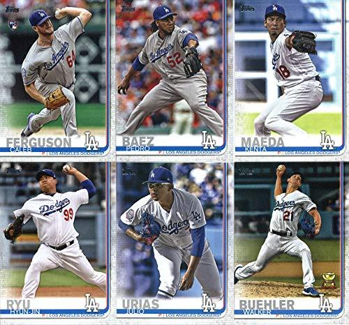 2019 Topps Series 2 Baseball Los Angeles Dodgers Team Set of 11 Cards: Kenta Maeda(#364), Pedro Baez(#433), Walker Buehler(#445), Caleb Ferguson(#452), Austin Barnes(#456), Cody Bellinger(#507), Hyun-Jin Ryu(#515), Julio Urias(#519), Max Muncy(#658), David Freese(#665), Alex Verdugo(#671)