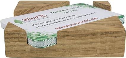 Visitenkartenbox Aus Holz Visitenkartenhalter Aus Holz Visitenkartenständer Original Von Woodbi Akazie