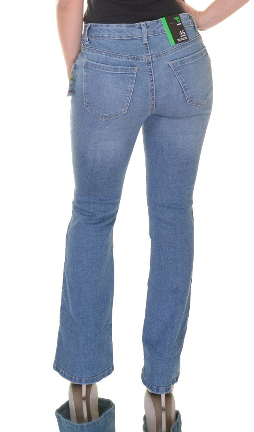 Style & Co. Womens Low Rise Rayon Denim Flare Jeans Blue 10