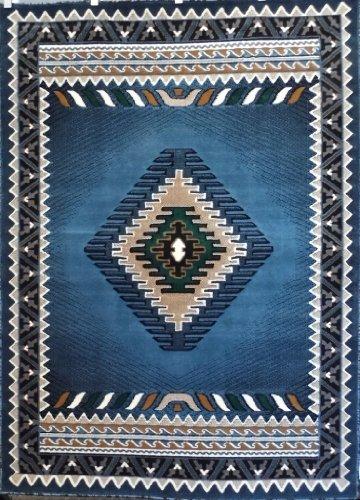 Native American Rug Design Kingdom 143 Blue 8 Feet X 10