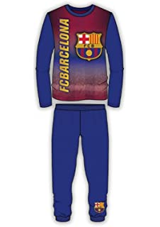 Barcelona FC Boys Long Length Snug Fit Football Pajama Age 4 to 12 Years