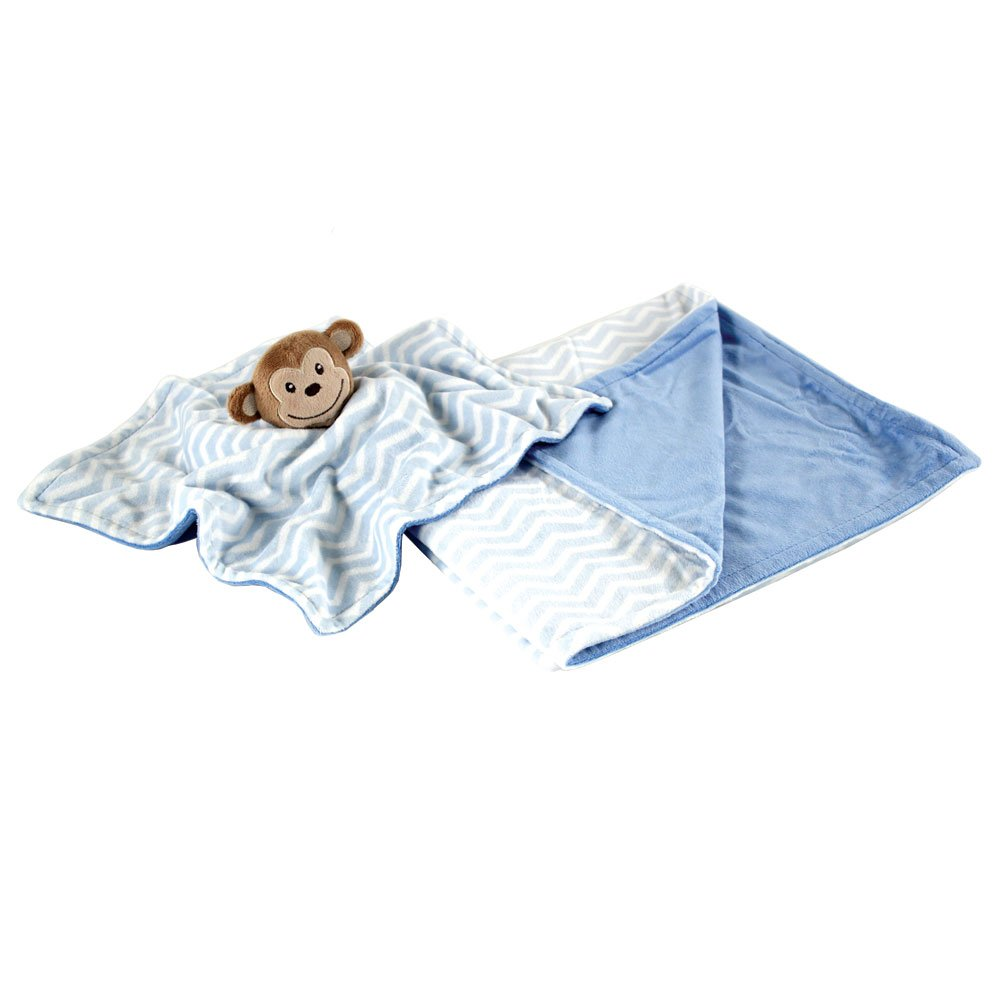 One Size Hudson Baby Unisex Baby Plush Blanket with Security Blanket Gray Owl