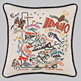 Catstudio Hand-Embroidered Pillow - Idaho