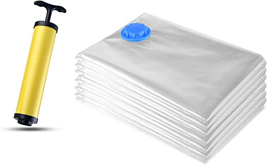 VMCA - Bolsa de almacenamiento al vacío para aspiradora con bomba – 6 piezas – Funda de almacenamiento para ropa de edredones, ropa de cama, mantas para el viaje, ahorra espacio: Amazon.es: Hogar