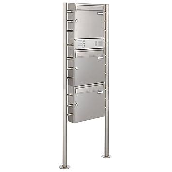 Edelstahl Design Standbriefkasten BASIC 381-VA mit Klingel ...