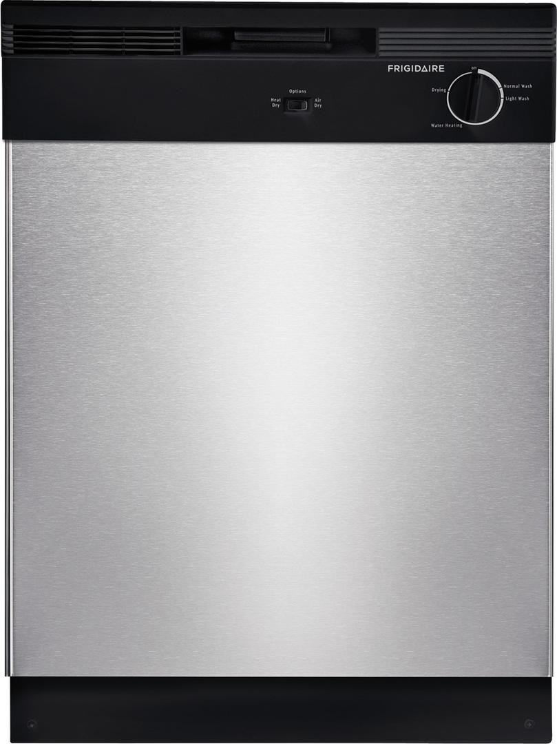 FFGF3015LM 30 Freestanding Gas Range Frigidaire 4-Piece Stainless Steel Builder Package with FFTR1821TS 28 Top Freezer Refrigerator FBD2400KS 24 Built In Dishwasher and FFMV1645TS 30 over the Ra