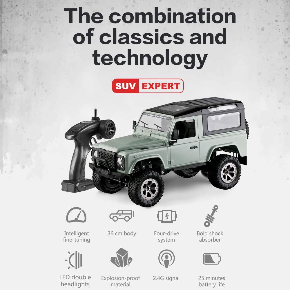 Goolsky FY003A 1//16 Todoterreno SUV RC Coche RC Desert Buggy Truck 2.4 GHz 4WD Control Remoto de Alta Velocidad RTR RC Coche