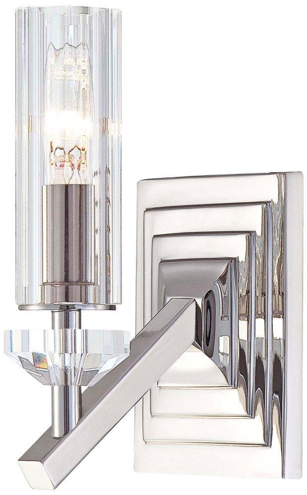 Metropolitan N2651-613 Sconce Polished Nickel Eidolon Krystal Glass Shades Fusano