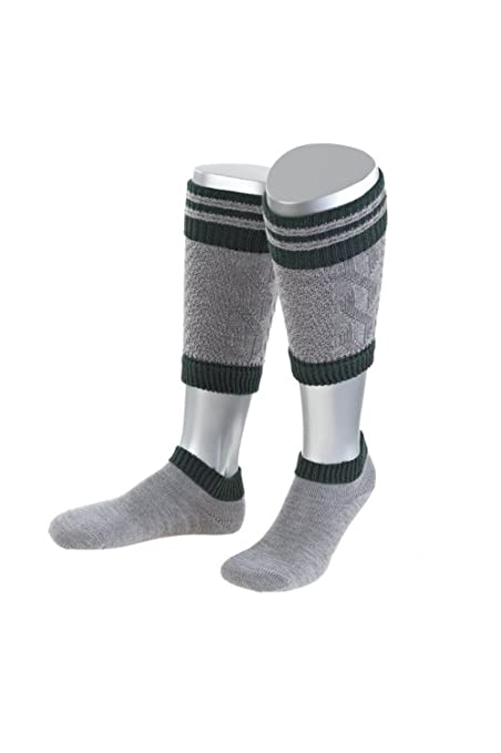 authentic bavarian Trachten Socks Loferl 2pcs in grey or nature made in germany (39-41(US6-8), grey)