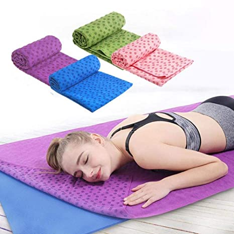euwanyu Non Slip Yoga Towel, Extra Thick Super Absorbent ...