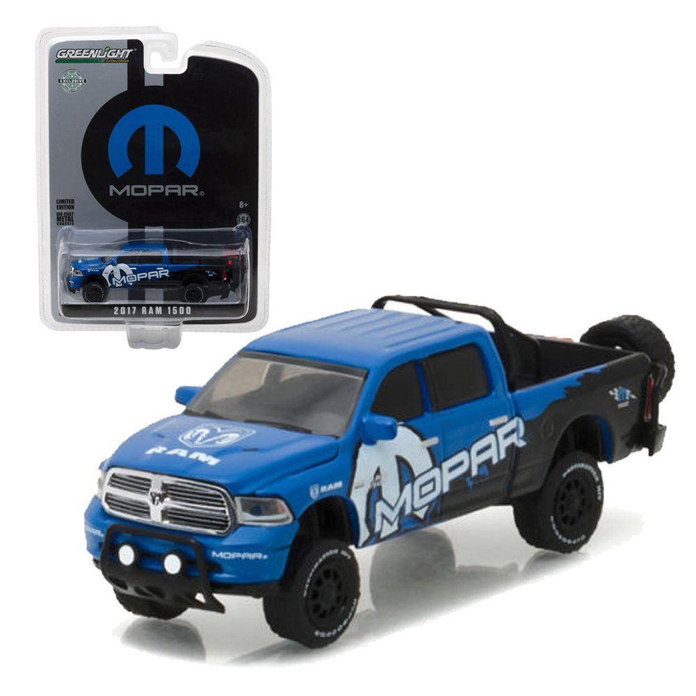 Greenlight 164 Hobby Exclusive Dodge Ram 1500 Mopar 1970 Truck Tow Off Road Diecast Blue 29887 Toys Games
