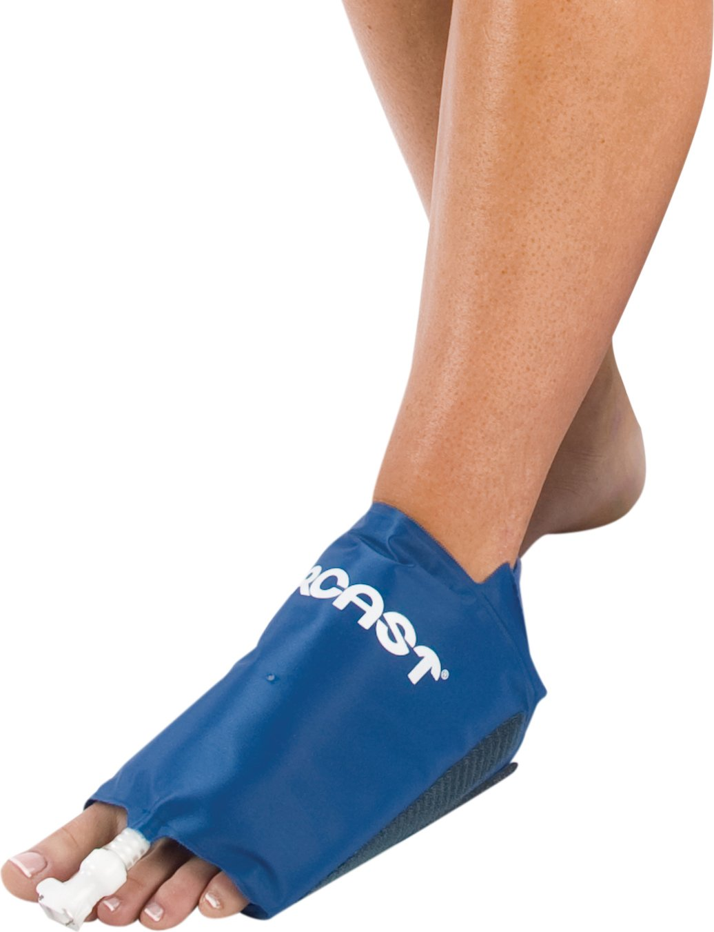 DonJoy Aircast Cryo/Cuff Cold Therapy: Foot Cryo/Cuff with Non-Motorized (Gravity-Fed) Cooler, Medium