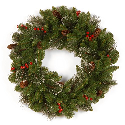 National Tree Crestwood Spruce Wreath, 30 Inch (Artificial 30 Wreath Christmas)