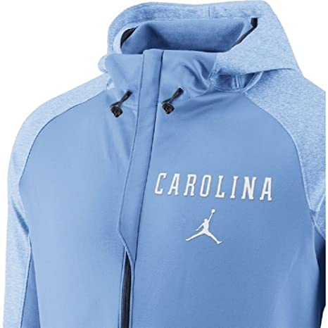 032928b853eabb Nike Jordan Men s North Carolina Tar Heels Carolina Blue Disruption  Full-Zip Elite Basketball Performance Hoodie