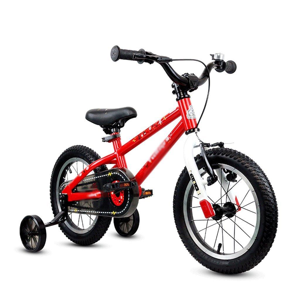 Duwen子供の自転車子供の自転車Flasher 3 – 9才12 / 14 / 16インチレッド B07FC9HP23   14 inch