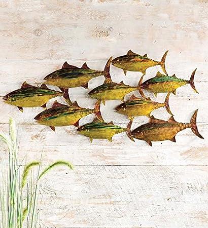 Amazon.com: School of Fish Wall Art: Home & Kitchen