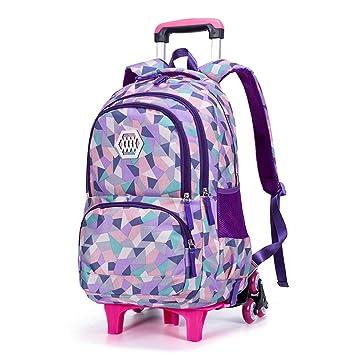 XHHWZB Mochila de Ruedas de la niña Mochila Mochila de Viaje de Viaje Mochilas (Color : B): Amazon.es: Deportes y aire libre