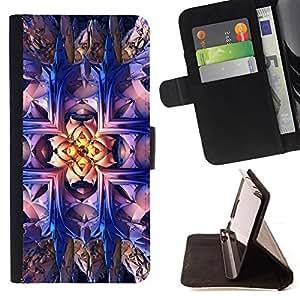 - DRAWING BRIGHT WALLPAPER BLING ART MAGICAL - - Prima caja de la PU billetera de cuero con ranuras para tarjetas, efectivo desmontable correa para l Funny HouseFOR Samsung Galaxy S5 V SM-G900