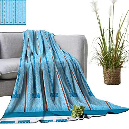 Amazon.com: YOYI Warm Blanket Competition Theme Swimming Pool with ...