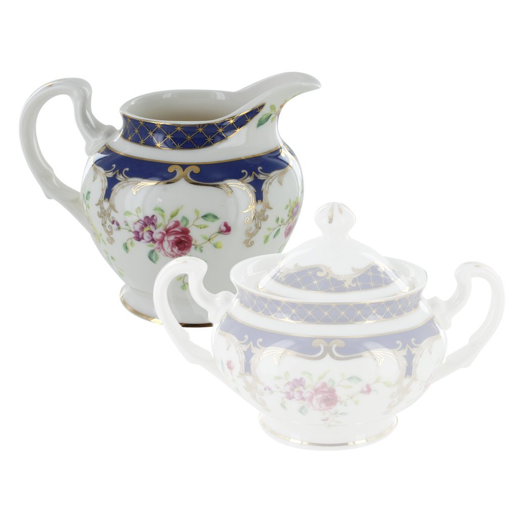English Tea Store Navy Rose Porcelain Creamer