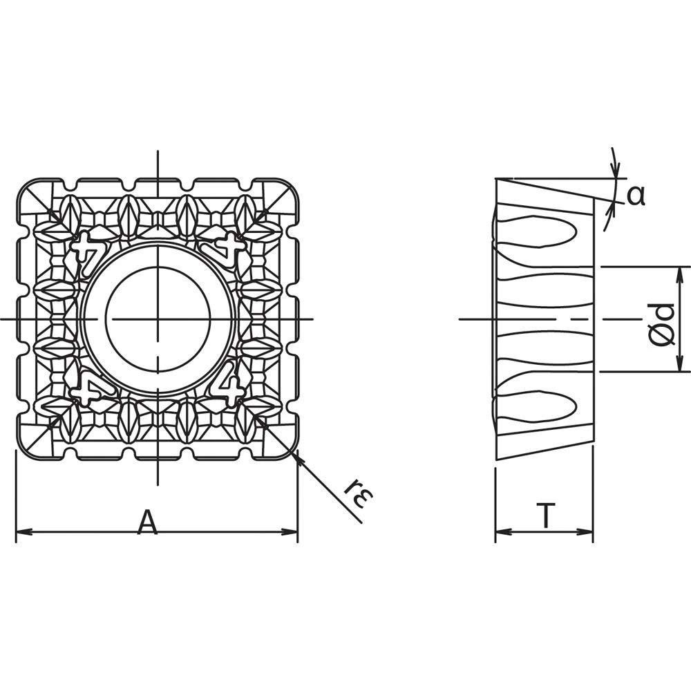 Kyocera SPMT 180616ENNB4 PR1210 Grade PVD Carbide Indexable Milling Insert 10 Pieces