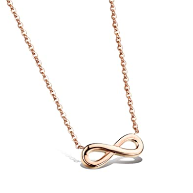 Obsede womens infinity necklace lucky number 8 pendant necklace rose obsede womens infinity necklace lucky number 8 pendant necklace rose gold aloadofball Choice Image