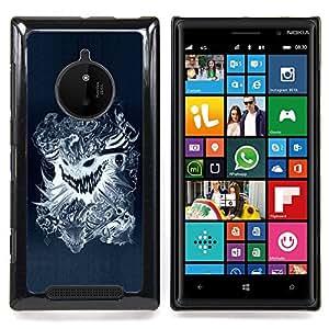 Jordan Colourful Shop - cool design tattoo dragon scary skull badass For Nokia Lumia 830 - < Personalizado negro cubierta de la caja de pl??stico > -